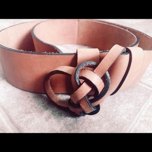 Lucky Brand Leather Belt Size XS/SM
